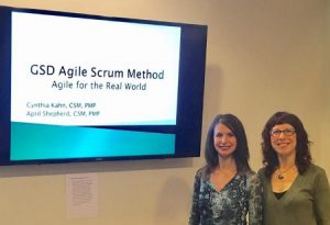 April Shepherd and Cynthia Kahn at GSD Scrum Training